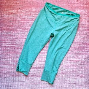 PrAna Capri Yoga Leggings Green Size XL